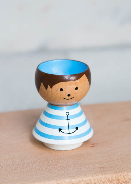 Hand-Painted Egg Cup – Boy Sailor - The Small Home