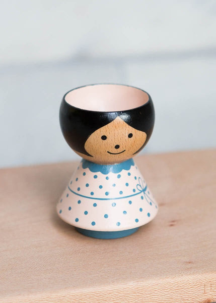 Hand-Painted Egg Cup – Pink Girl - The Small Home