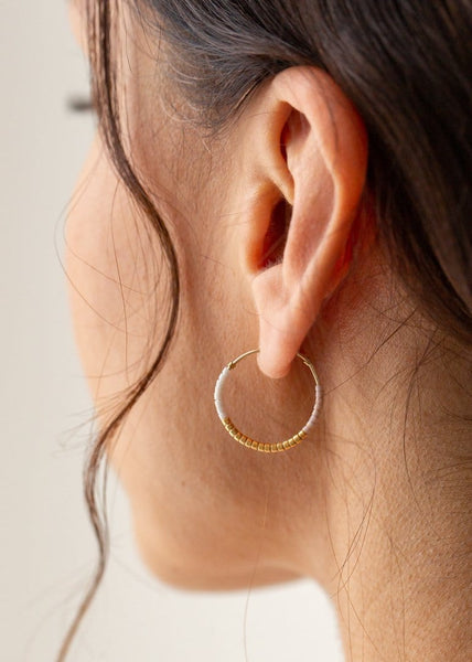 Hoop Beaded Earrings - Small - The Small Home