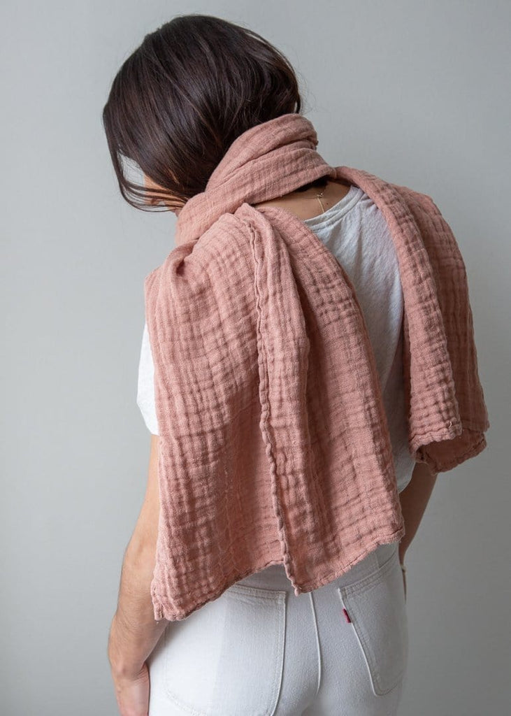 Linen Scarf - Pink Clay - The Small Home