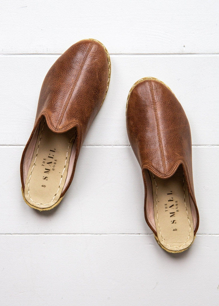 Luxe Leather Slide – Conker - The Small Home