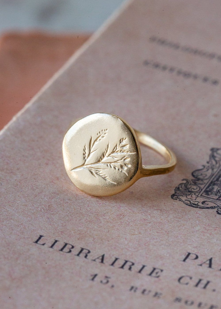 Molly Debiak - Gold Wildflower Ring - The Small Home