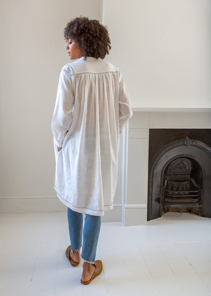 Oversized Shirt Dress – Natural White - The Small Home