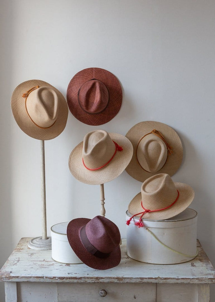 Panama Hat - Toast/Red Band - The Small Home