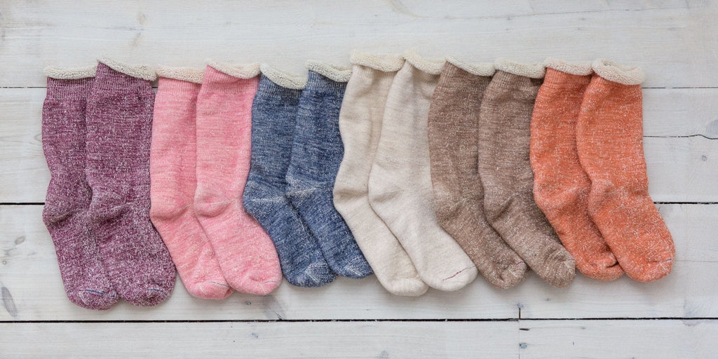 Rototo - Organic Double Face Socks - Light Pink - The Small Home