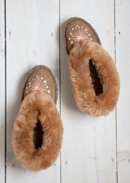 Seconds - Women's Sheepskin Moccasins - Allium - The Small Home
