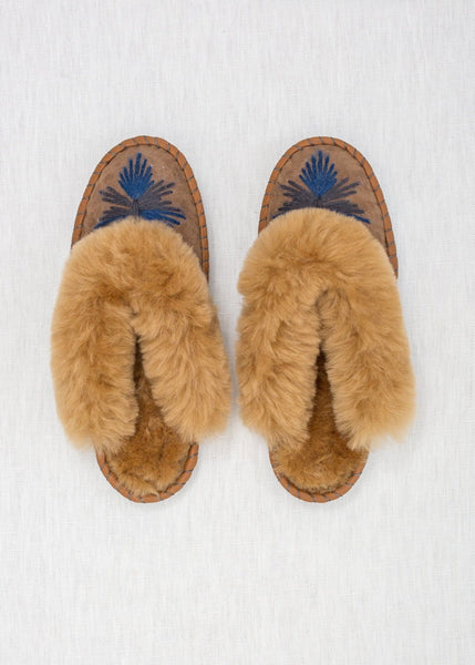 Seconds - Women's Sheepskin Mules - Midnight - The Small Home