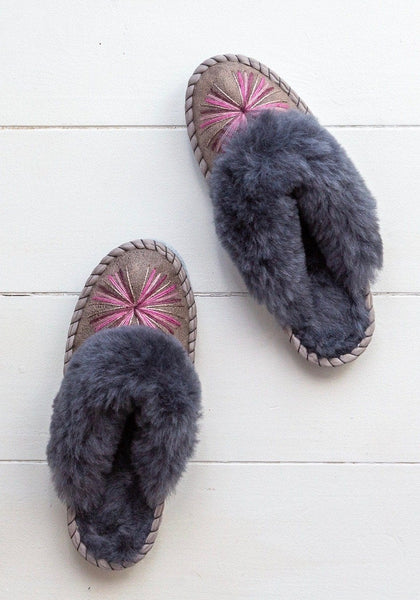 Seconds - Women's Sheepskin Mules - Pink Urchin - The Small Home