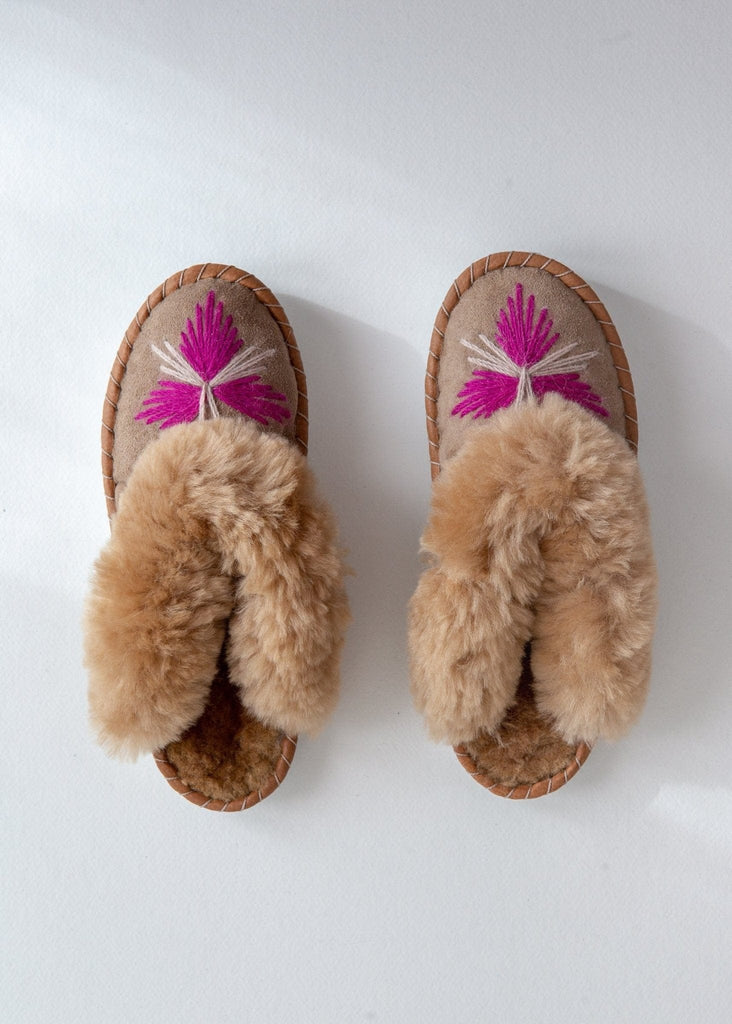 Seconds - Women's Sheepskin Mules - Rhubarb - The Small Home