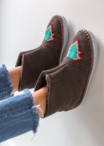 Seconds - Women's Sheepskin Slipper Boots - Sea - The Small Home