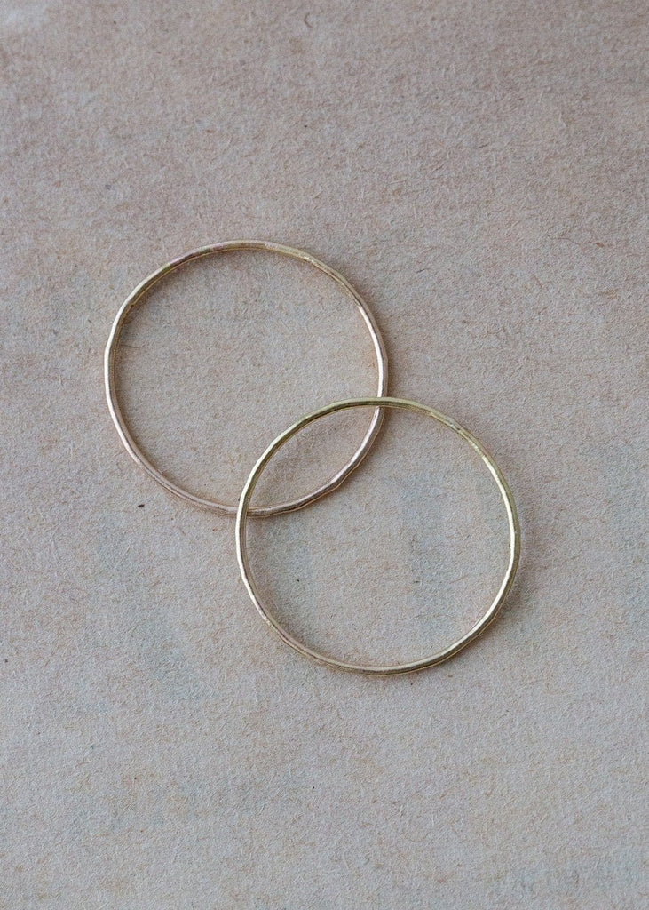 Solid Gold Hammered Stacking Rings - The Small Home