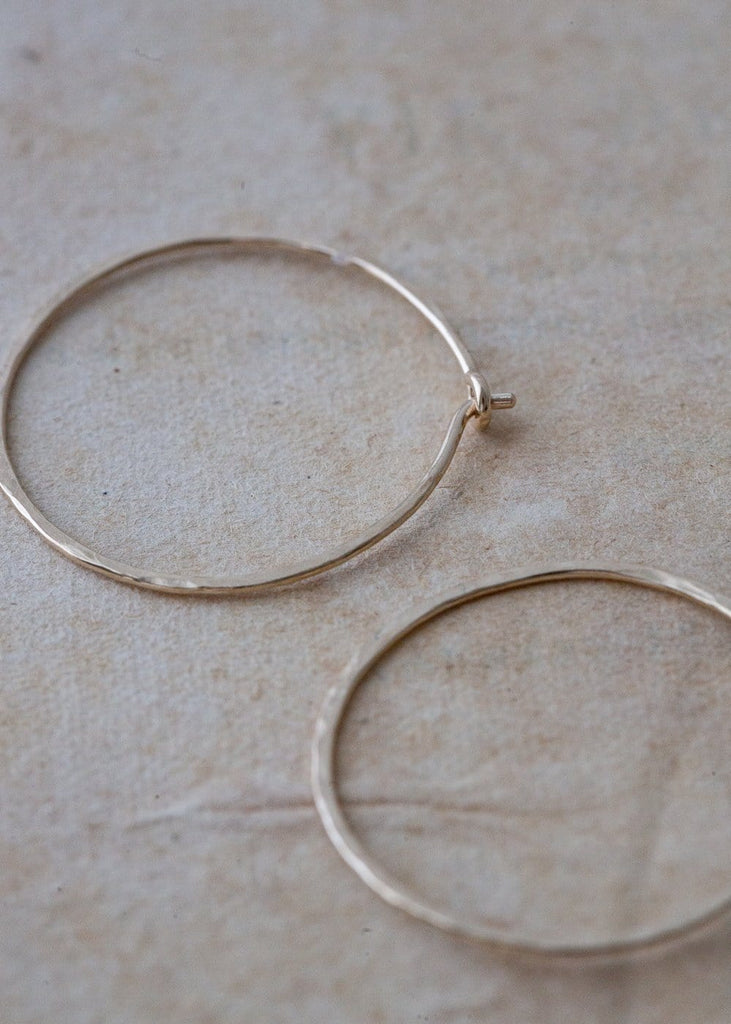 Solid Gold Hoop Earrings – Large - The Small Home