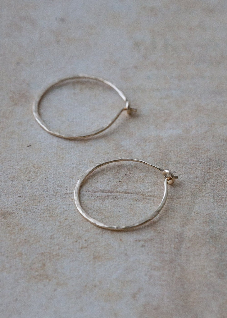 Solid Gold Hoop Earrings – Small - The Small Home