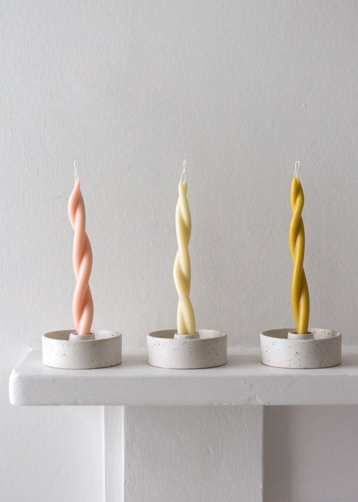 Speckled Candle Holder - The Small Home