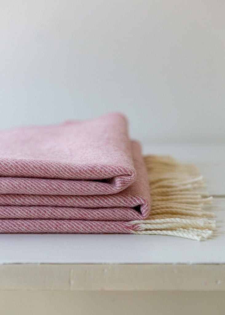 Super-soft Merino Blanket – Blush - The Small Home