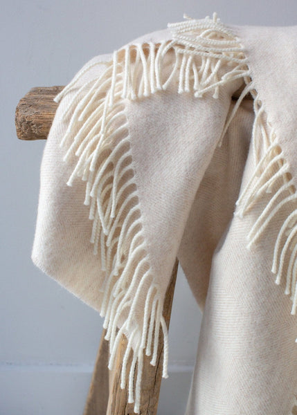 Super-soft Merino Blanket – Linen - The Small Home