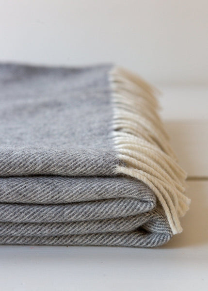 Super-soft Merino Blanket – Pale Grey - The Small Home