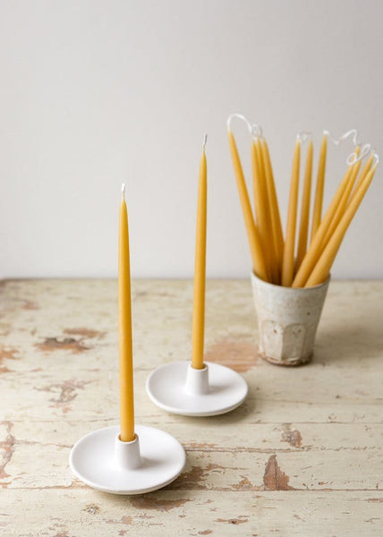 Thin Tapered – Pairs of 100% Pure Beeswax Candles - The Small Home
