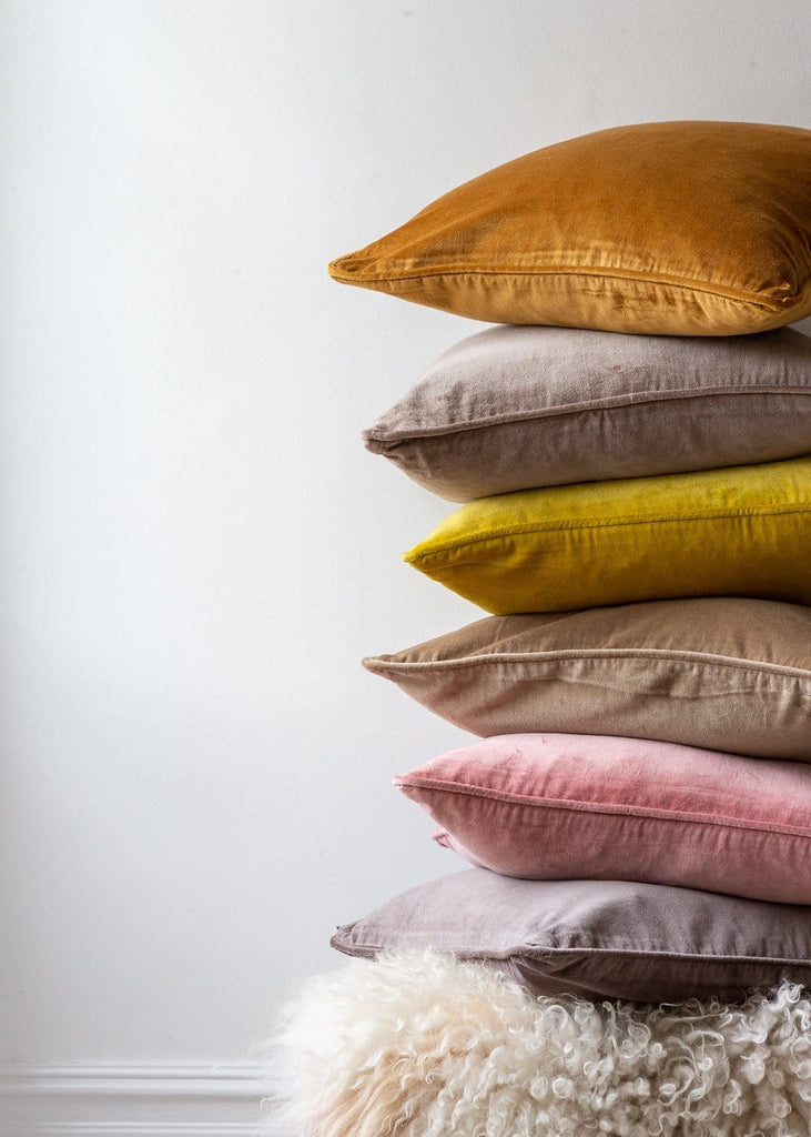 Velvet Cushions – Clay - The Small Home