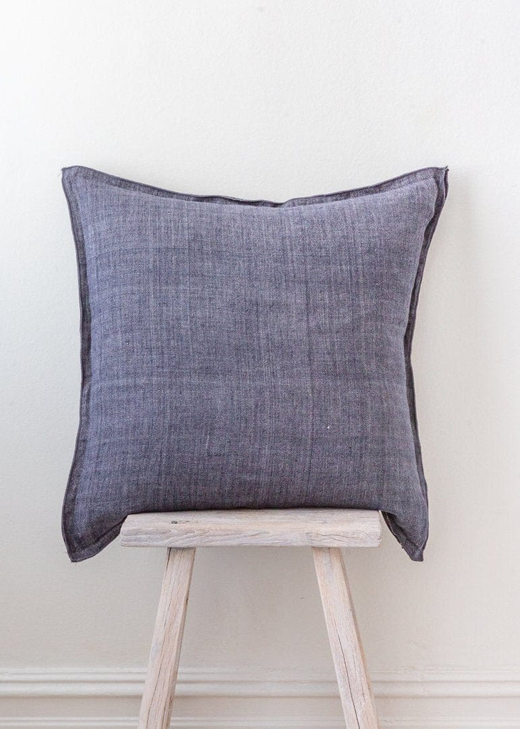 Washed Linen Cushion - Elephant Grey - The Small Home