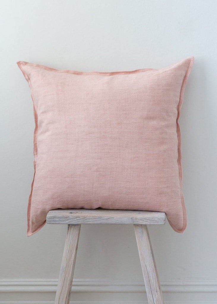 Washed Linen Cushion - Nude Pink - The Small Home
