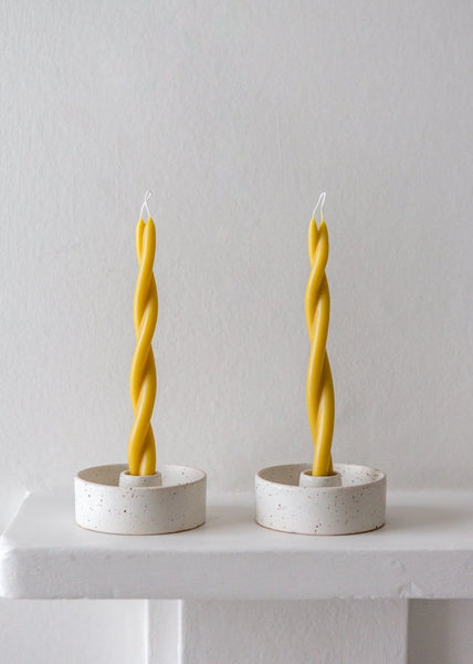 Wax Atelier - Twisted Candle - Natural - The Small Home
