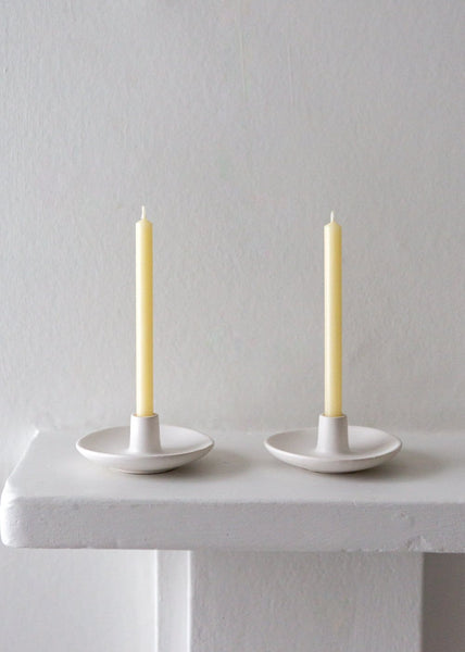 White Small Candle Holder - The Small Home