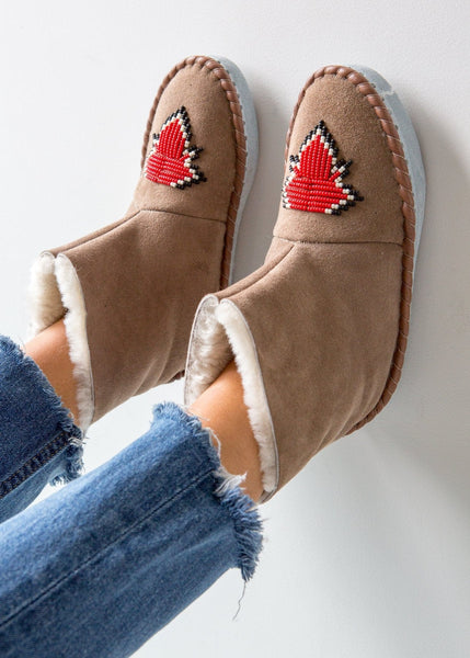 Women's Beaded Slipper Boot – Chilli - The Small Home
