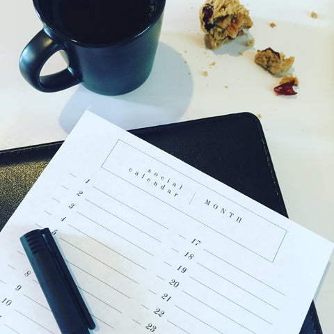 Free Printable Social Media Calendar Page and Meal Planner Page (M by Staples Arc, Discbound, Full & Junior Sizes) + shop radiantrumble.com