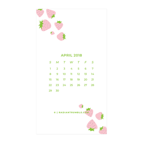 April 2018 Free Wallpaper + shop radiantrumble.com
