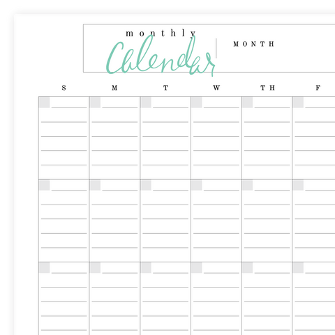 Lined Calendar Printable Pdf Page