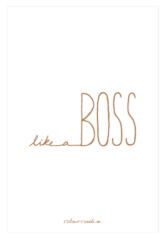 Free Like a Boss Digital Wallpaper + radiantrumble.com