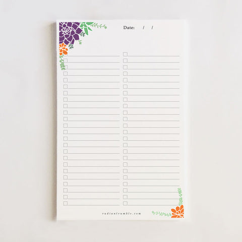 Succulent Tear-Off Notepad + shop radiantrumble.com