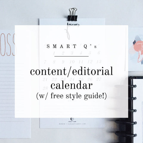Free Worksheet: Content Calendar Q's to Ask & Answer + shop radiantrumble.com