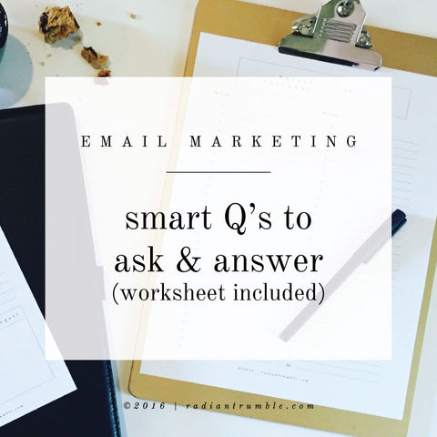 Email Marketing Q&A Worksheet