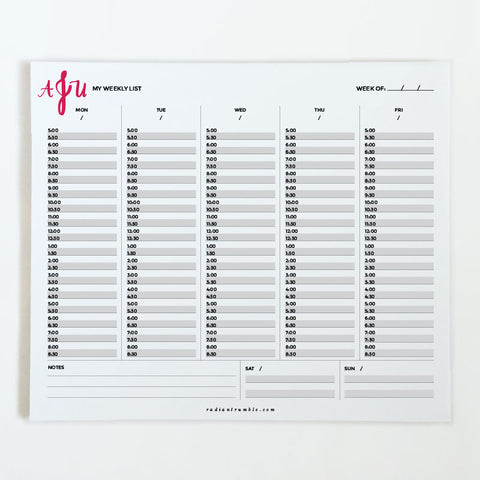 Custom Initials Weekly Desk Pad (order online!) + shop radiantrumble.com