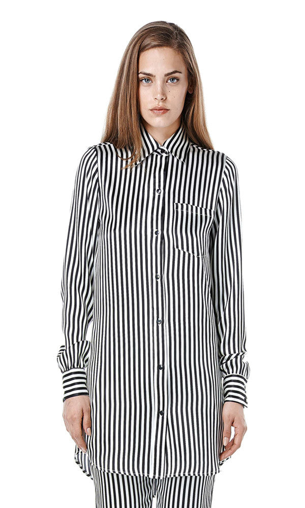 ZIGGY Oversized Silk Blouse