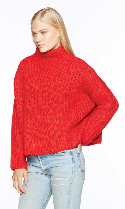 ECHOS Red Sweater