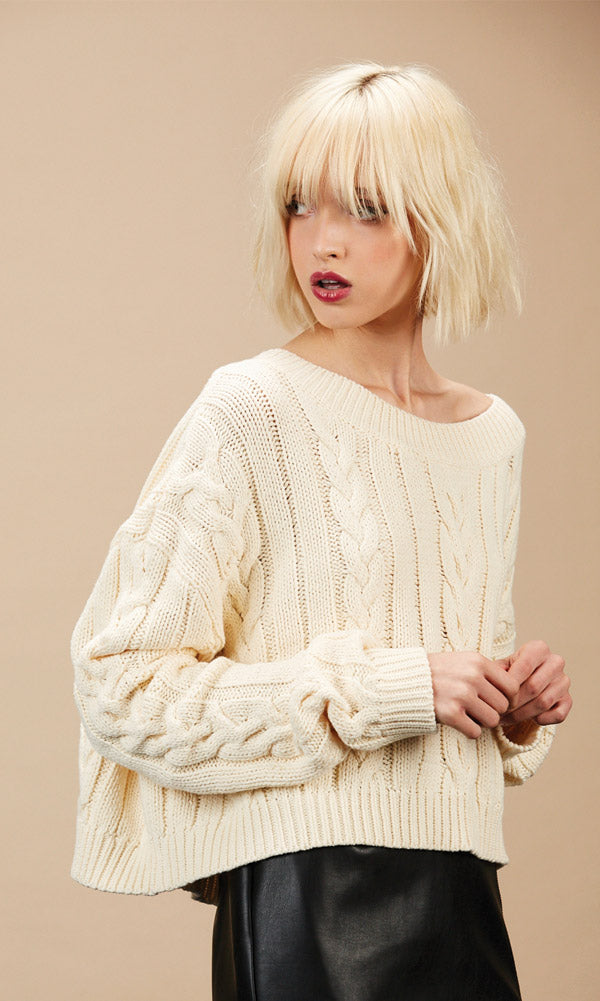 FIONA Cream Sweater