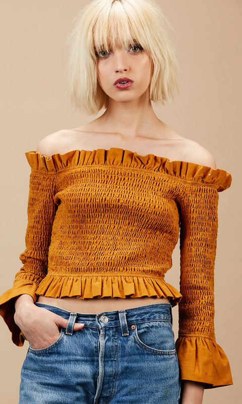 OPHILIA Mustard Top