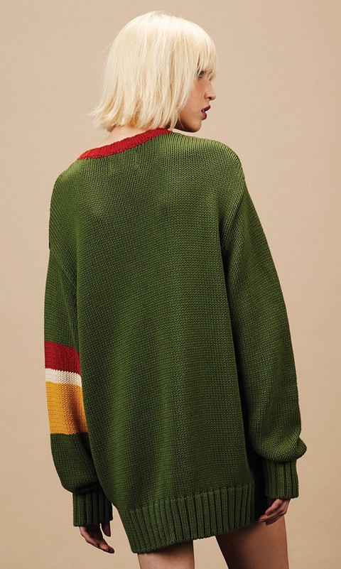 RYDER Oversized green Sweater