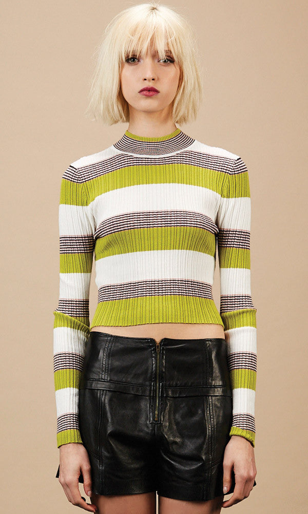 WINONA Green Crop Sweater - SOLD OUT