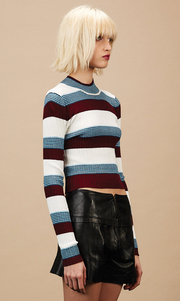 WINONA Burgundy Crop Sweater- SOLD OUT