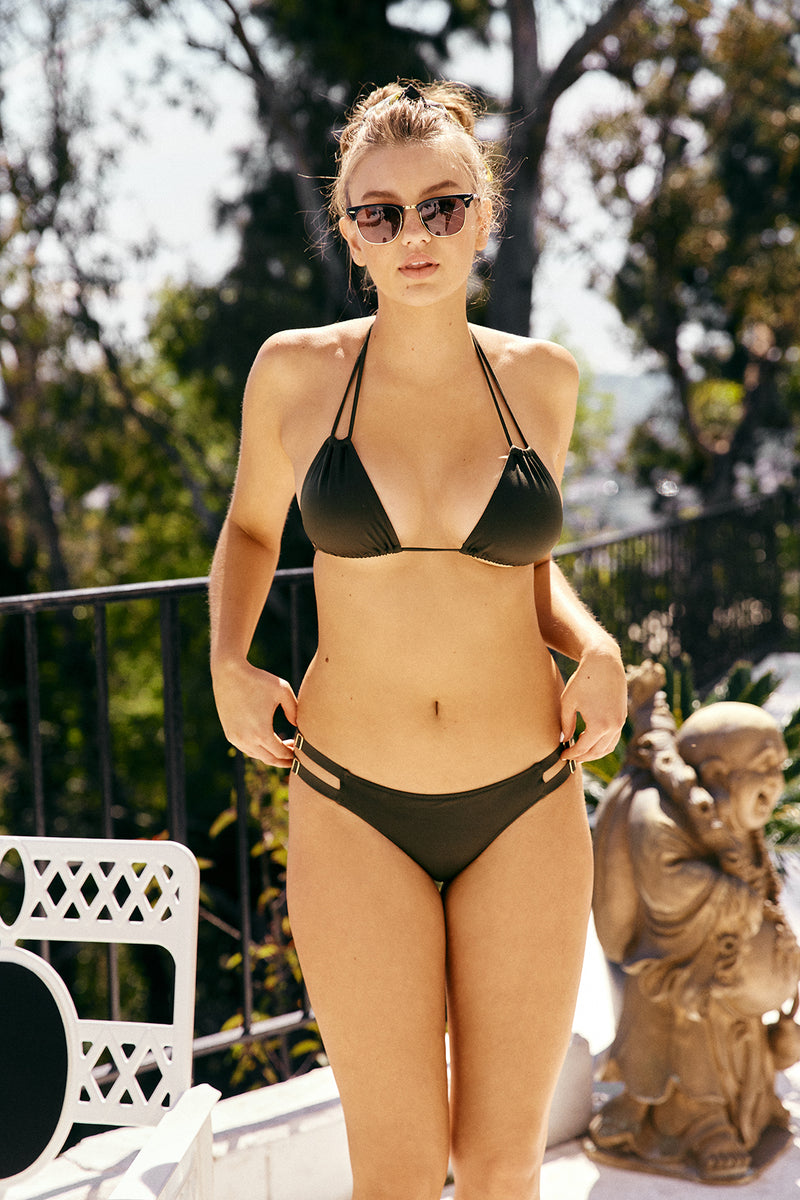 green triangle bikini top moderate coverage adjustable eco-friendly & sustainable fabric