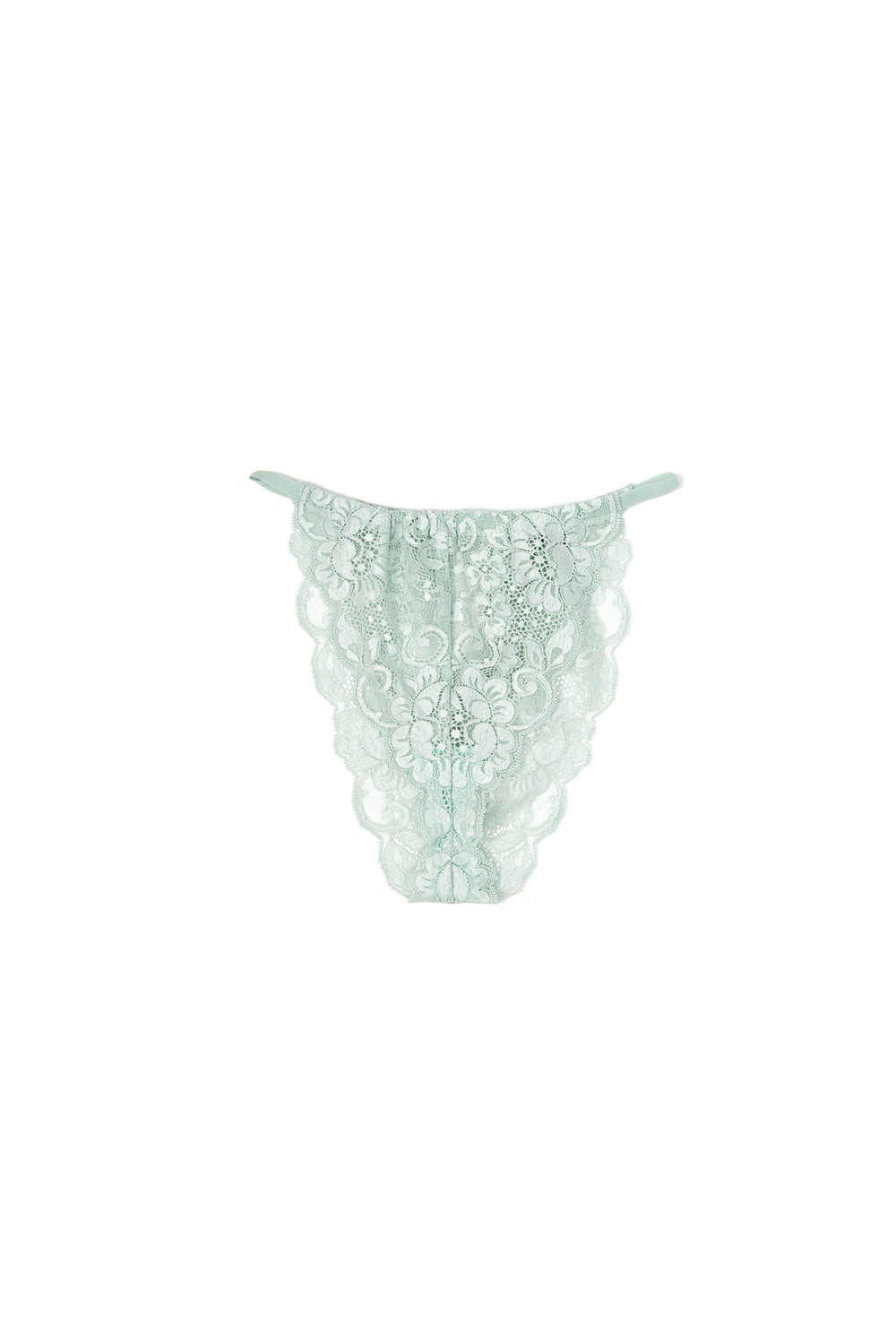 light blue high waisted vintage-inspired lacy panty