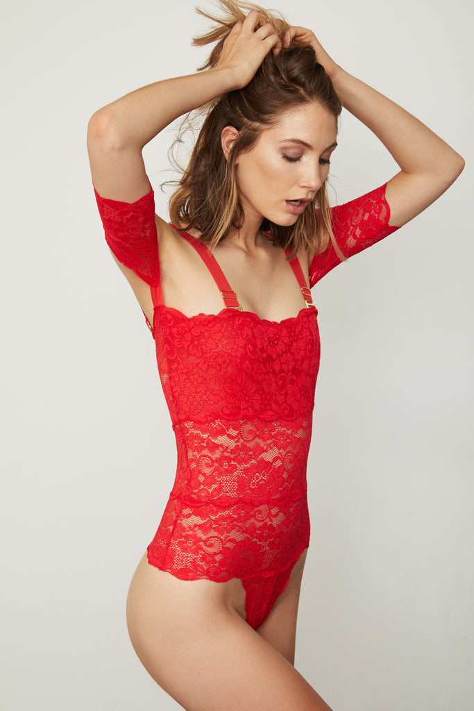 I STOPPED IT BODYSUIT | SIREN RED