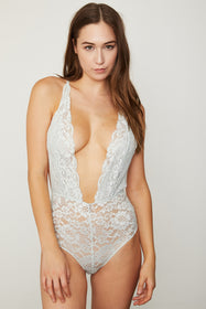 Comin' In HAHt Lace Bodysuit | Something Blue