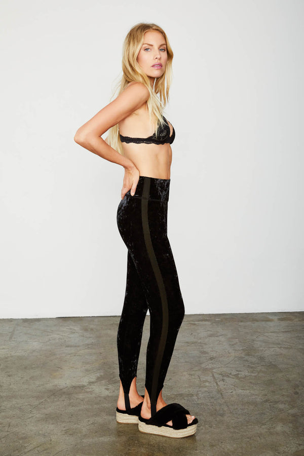 black velvet legging stretchy machine washable high waisted