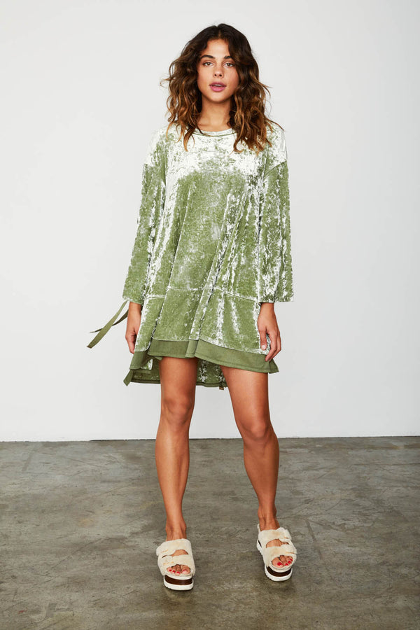 green velvet sporty shift dress vintage inspired