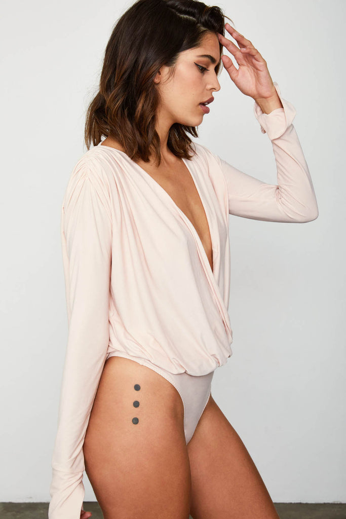 MICHELE HAH BELLE BODYSUIT | BLUSH